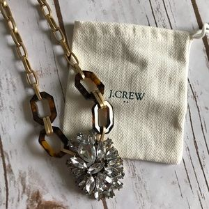 J. Crew Factory Tortoise Shell Statement Necklace